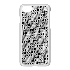 Metal Background Round Holes Apple Iphone 8 Seamless Case (white) by Jojostore