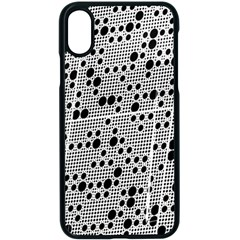 Metal Background Round Holes Apple Iphone X Seamless Case (black)