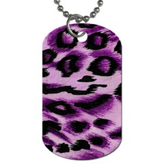 Background Fabric Animal Motifs Lilac Dog Tag (one Side) by Jojostore