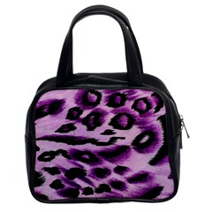 Background Fabric Animal Motifs Lilac Classic Handbag (two Sides)