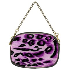 Background Fabric Animal Motifs Lilac Chain Purse (two Sides) by Jojostore