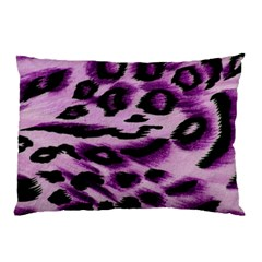 Background Fabric Animal Motifs Lilac Pillow Case (two Sides) by Jojostore