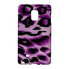 Background Fabric Animal Motifs Lilac Samsung Galaxy Note Edge Hardshell Case by Jojostore
