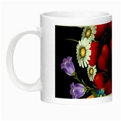 Flower Decoration Bouquet Of Flowers Night Luminous Mugs by Sapixe