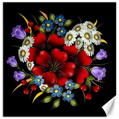 Flower Decoration Bouquet Of Flowers Canvas 12  X 12  by Sapixe
