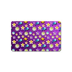Default Floral Tissue Curtain Magnet (name Card) by Sapixe
