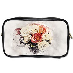 Flowers Background Wallpaper Art Toiletries Bag (two Sides) by Sapixe