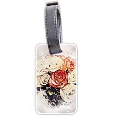 Flowers Background Wallpaper Art Luggage Tags (two Sides) by Sapixe