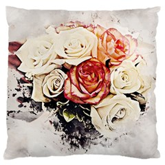 Flowers Background Wallpaper Art Large Cushion Case (two Sides)