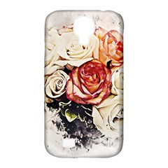 Flowers Background Wallpaper Art Samsung Galaxy S4 Classic Hardshell Case (pc+silicone)