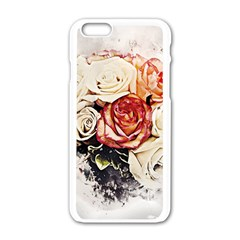Flowers Background Wallpaper Art Apple Iphone 6/6s White Enamel Case by Sapixe