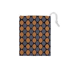 Abstract Seamless Pattern Drawstring Pouch (small)