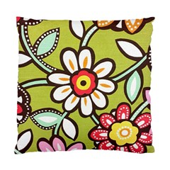 Flowers Fabrics Floral Design Standard Cushion Case (two Sides)