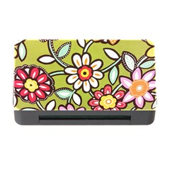 Flowers Fabrics Floral Design Memory Card Reader With Cf