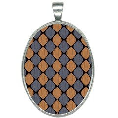 Abstract Seamless Pattern Oval Necklace by Jojostore