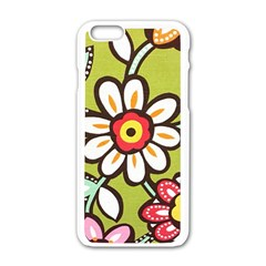 Flowers Fabrics Floral Design Apple Iphone 6/6s White Enamel Case by Sapixe