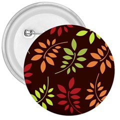 Leaves Foliage Pattern Design 3  Buttons by Sapixe