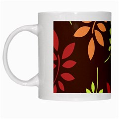 Leaves Foliage Pattern Design White Mugs by Sapixe