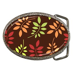 Leaves Foliage Pattern Design Belt Buckles by Sapixe
