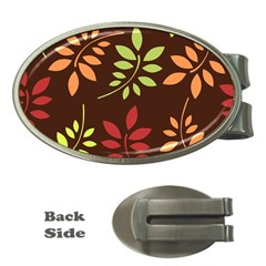 Leaves Foliage Pattern Design Money Clips (oval)