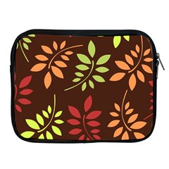 Leaves Foliage Pattern Design Apple Ipad 2/3/4 Zipper Cases by Sapixe