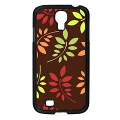 Leaves Foliage Pattern Design Samsung Galaxy S4 I9500/ I9505 Case (black) by Sapixe