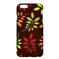 Leaves Foliage Pattern Design Apple Iphone 6 Plus/6s Plus Hardshell Case by Sapixe