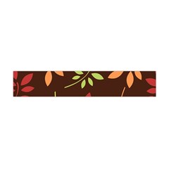 Leaves Foliage Pattern Design Flano Scarf (mini) by Sapixe