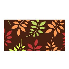Leaves Foliage Pattern Design Satin Wrap by Sapixe