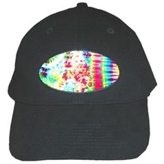 Pattern Decorated Schoolbus Tie Dye Black Cap by Jojostore