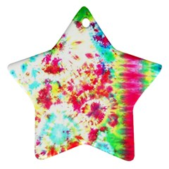 Pattern Decorated Schoolbus Tie Dye Ornament (star)