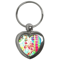Pattern Decorated Schoolbus Tie Dye Key Chains (heart)  by Jojostore
