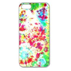 Pattern Decorated Schoolbus Tie Dye Apple Seamless Iphone 5 Case (clear) by Jojostore