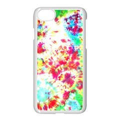 Pattern Decorated Schoolbus Tie Dye Apple Iphone 7 Seamless Case (white) by Jojostore