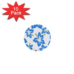 Hibiscus Wallpaper Flowers Floral 1  Mini Buttons (10 Pack)