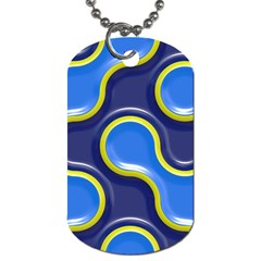 Pattern Curve Design Seamless Dog Tag (one Side)