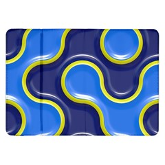 Pattern Curve Design Seamless Samsung Galaxy Tab 8 9  P7300 Flip Case by Sapixe