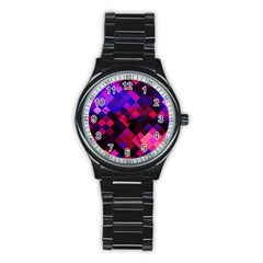 Pattern Seamless Pattern Tile Stainless Steel Round Watch