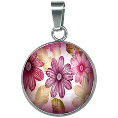 Print Fabric Pattern Texture 20mm Round Necklace