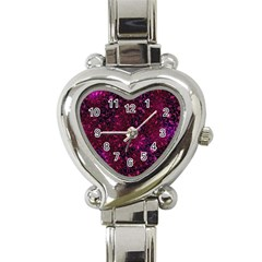 Retro Flower Pattern Design Batik Heart Italian Charm Watch