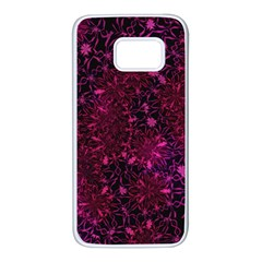 Retro Flower Pattern Design Batik Samsung Galaxy S7 White Seamless Case