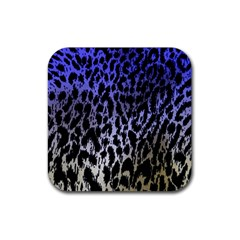 Fabric Animal Motifs Rubber Square Coaster (4 Pack)