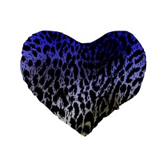 Fabric Animal Motifs Standard 16  Premium Flano Heart Shape Cushions