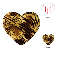 Pattern Tiger Stripes Print Animal Playing Cards (heart) by Jojostore