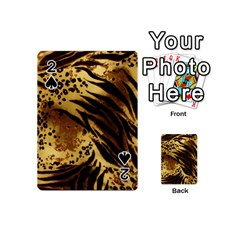 Pattern Tiger Stripes Print Animal Playing Cards 54 (mini) by Jojostore