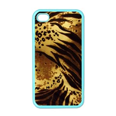 Pattern Tiger Stripes Print Animal Apple Iphone 4 Case (color)