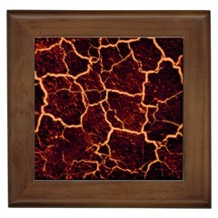 Lava Cracked Background Fire Framed Tiles