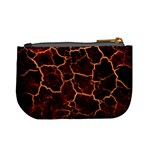 Lava Cracked Background Fire Mini Coin Purse Back