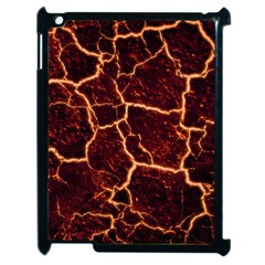 Lava Cracked Background Fire Apple Ipad 2 Case (black) by Sapixe