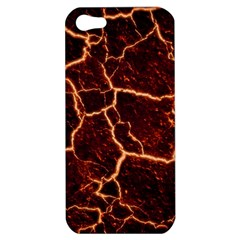 Lava Cracked Background Fire Apple Iphone 5 Hardshell Case
